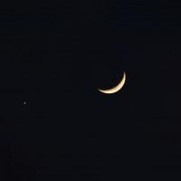月と金星接近(1月2日)