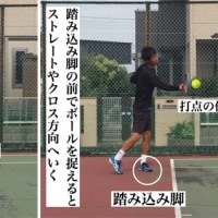 フォアハンドストローク  回り込みフォアハンド逆クロスへ打つコツ②「ボールへの入り方」 〜才能がない人でも上達できるテニスブログ〜