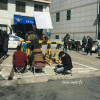 今日かな? クォン・サンウ チェ・ガンヒ『推理の女王』~「ワォー~私たちの町内にドラマ撮影。クォン俳優様の顔ちょっと見せてください。」