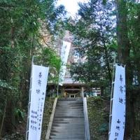急な石段を上った所に本殿があります。 (Photo No.14048)