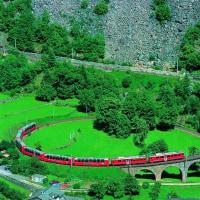 スイスの鉄道娘