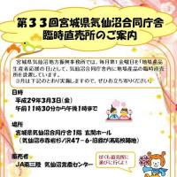 【3/3】第33回気仙沼合同庁舎臨時直売所を設置します!