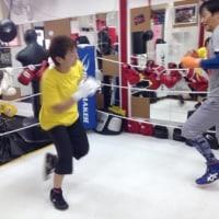 今日はボクシング練習