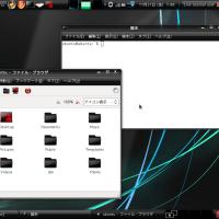 大学用ノートにUbuntu8.10投入。軽い。