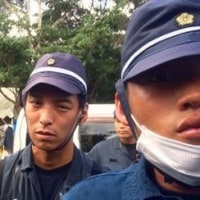 松井一郎知事の若い頃と大阪府警のチンピラ機動隊員との比較