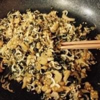 野沢菜で常備菜。