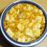 麻婆豆腐とチキンカツ
