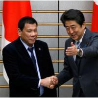 ★【南シナ海問題】・・・・・「日本の側に立つ」=安倍首相との会談で比大統領