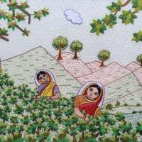 バングラデシュ 伝統刺繍 ノクシカタ