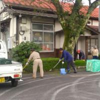 若桜駅を元気にする会清掃活動