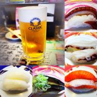 夜ご飯は、お寿司を腹一杯(旬楽 恵庭店)