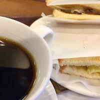 ローストビーフとチーズポテトのサンドセットを頂きました。 at CAFÉ de CRIÉ 桜木町店