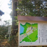 25 六ヶ岳(339m:福岡県若宮市)登山  境内には大木が