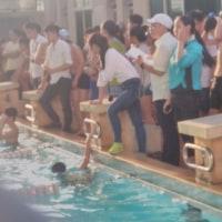 [気温28℃][晴れ] 水泳大会で学校代表とローストビーフ丼