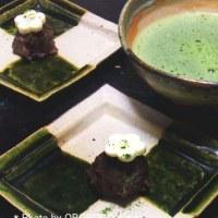お正月のお抹茶。カンタン和菓子ですが