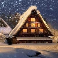 白川郷:雪の夜に浮かぶ合掌造り…世界遺産ライトアップ/毎日新聞