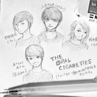 THE ORAL CIGARETTESメンバー習作。