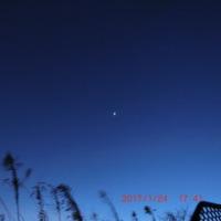 今早朝の空に広がる豪勢な星たち