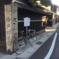 デローザのハンドルを交換  調整走で鈴鹿川CR〜旧伊勢街道