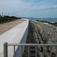 6月22日 草野(いわき市)の海岸を走る