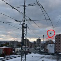 初雪が降りました・・・以後アンテナへの着雪注意