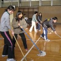 体育館清掃
