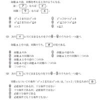大学入試センター試験・数学・命題・必要十分条件 161