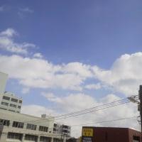 2017/2/25   午前11時過ぎ札幌の空模様  晴れから雪に