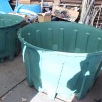 防災用・地下埋設型雨水タンク1600リットル。加工中