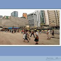 2014年の大阪駅前