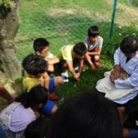 堺市立土師小学校で飼育委員会のみなさんと