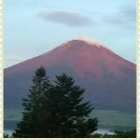 初めて見ました赤富士!
