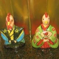 楽焼き陶芸展のお雛様。