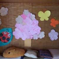 桜の貼り絵♪♪♪