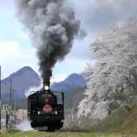 津川駅発車、リベンジもドボン(磐西C57)