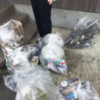 プロジェクト福井クリーン作戦終わりました 集めたゴミです