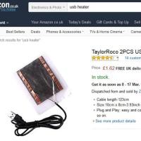 USB Heater 購入 AMAZON