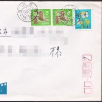 三日月型和文試行印、私宛の実逓便