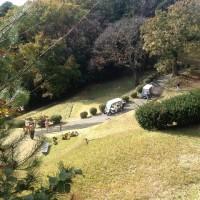 多摩丘陵サイクリング 東京国際カントリーゴルフ場通過。