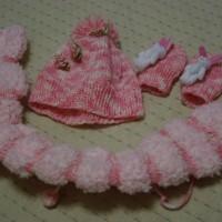 手編みの帽子・マフラー・手袋