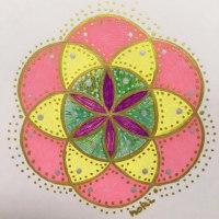 TRINITYさんで神聖幾何学HaReアートの 体験講座❤