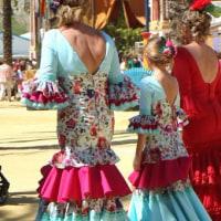 スペイン お祭りの写真【フェリア・デル・カバジョ2016(馬祭り)ヘレス・デ・ラ・フロンテーラ】vol.7 親子、お揃いの衣装