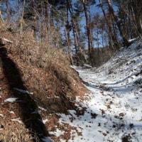 冬の光城山(標高911.7m)と長峰山(標高933.3m)(長野県安曇野市)(2)