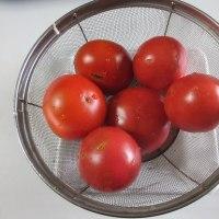 今朝の収穫と料理1品
