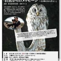 【講演会のお知らせ】八幡平ビジターセンター ネイチャートーク  「自然からのメッセージ~生き物たちから学ぶ」