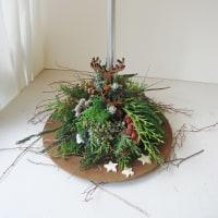 ヌーベルフラワーのクリスマス「トナカイの森(生花)」見本です♪