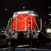 中の機関車