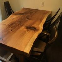 日光杉一枚板テーブル