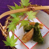 春の和食・若竹煮の土佐がけと青のり