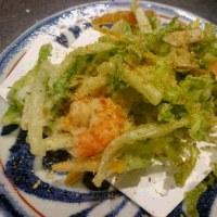 白菜とえびのかき揚げ